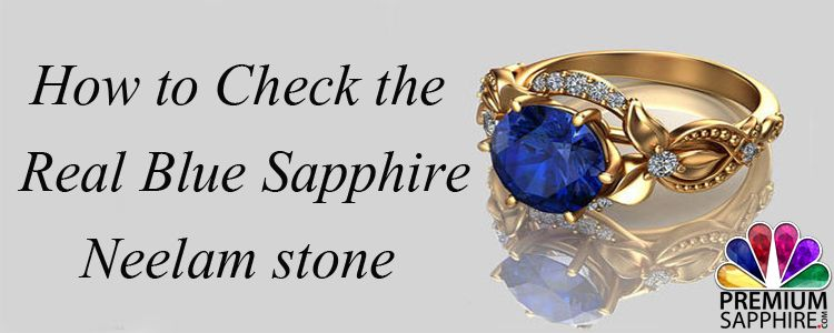 how to check real blue sapphire