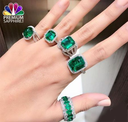 Emerald gemstone for mercury