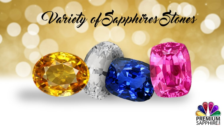 Variety of sapphires Stones